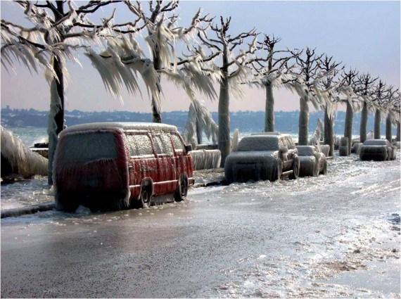 Calle congelada