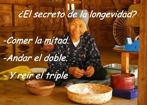 Palabras para El Alma – Pensamientos: Secreto de la longevidad