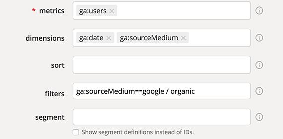 How to use the Google Analytics Query Explorer - Klipfolio