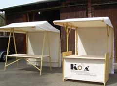 klipklap ecofriendly wooden market stall  Compact offer
