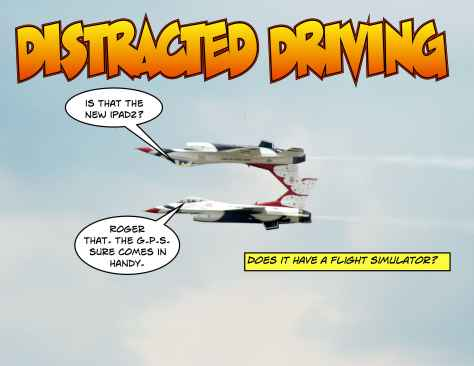 Distracted driving can be a real problem, especially in a supersonic aircraft.