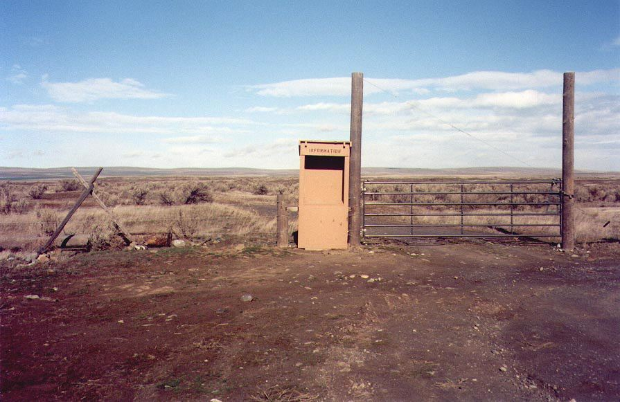 Information booth in the middle of nowhere, Umatilla, Oregon
