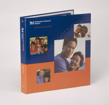 Custom Four Color 3 Ring Binder, Full Color Binder Northwestern Medicine