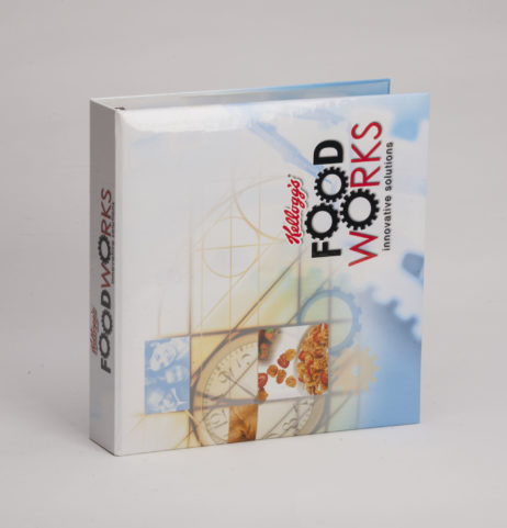 Custom Full-Color Case Wrap 3 Ring Binder Kellogg's Food Works