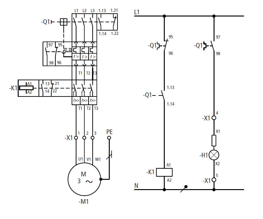Moeller PKZ2 Magnetic Motor Protector Combinations