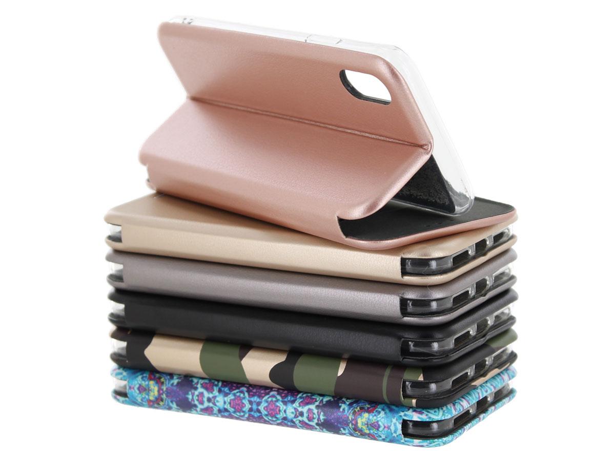 Slim Elegant Bookcase Goud Iphone X Xs Hoesje