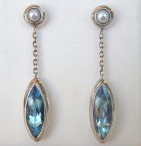 Blue Topaz Dangle Earrings Bodyjewelrylive Images Postearr