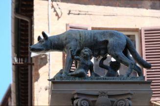 Romolus und Remus bei der Wölfin