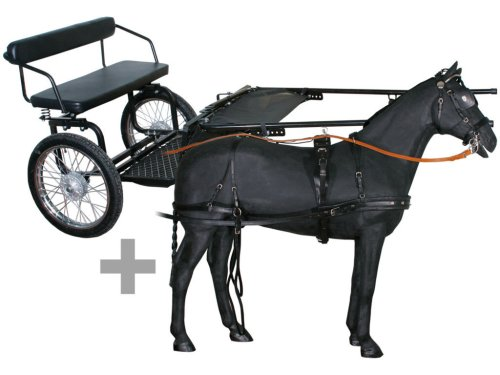 small resolution of pony cart with leather harness