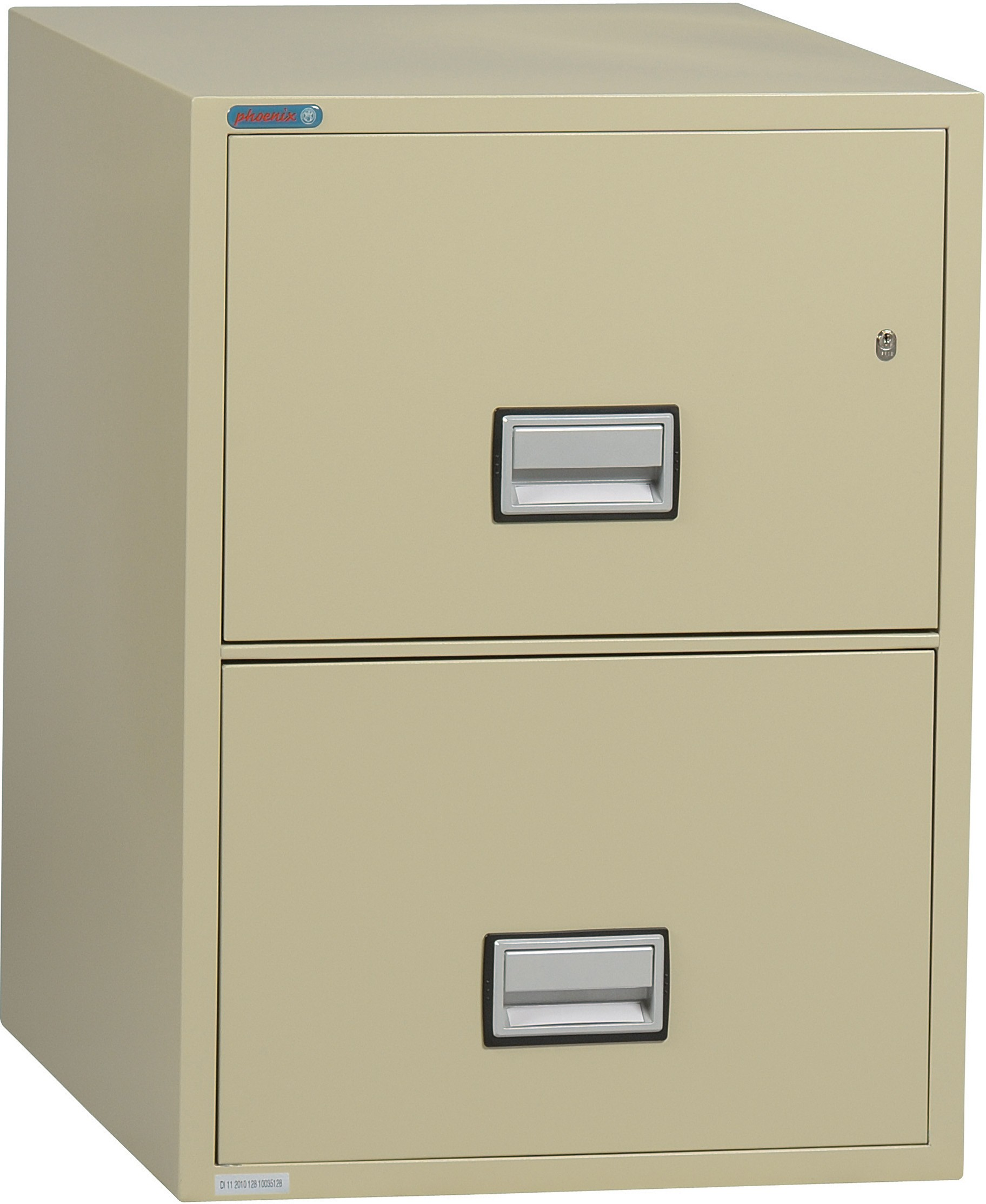 Phoenix Vertical 31 Inch 2 Drawer Legal Fireproof File Cabinet