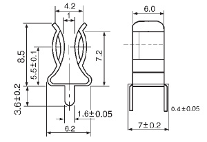 PCB Fuse Clip For Fuse 5.2×20mm manufacturer & supplier