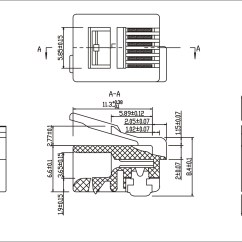 Rj12 Wiring Diagram Garbage Disposal Installation Modular Plug Rj11 Rj14 Rj25 Manufacturer And Supplier