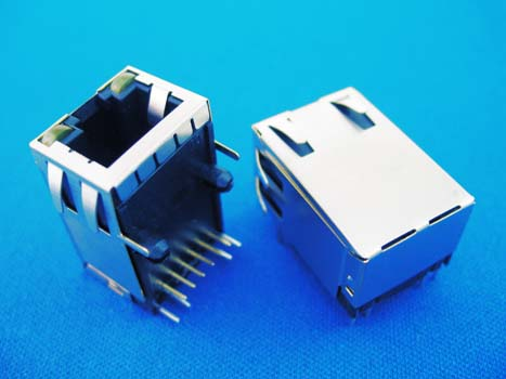 Rj45 Modular Jack With Led Transformer Right Pcb Mount