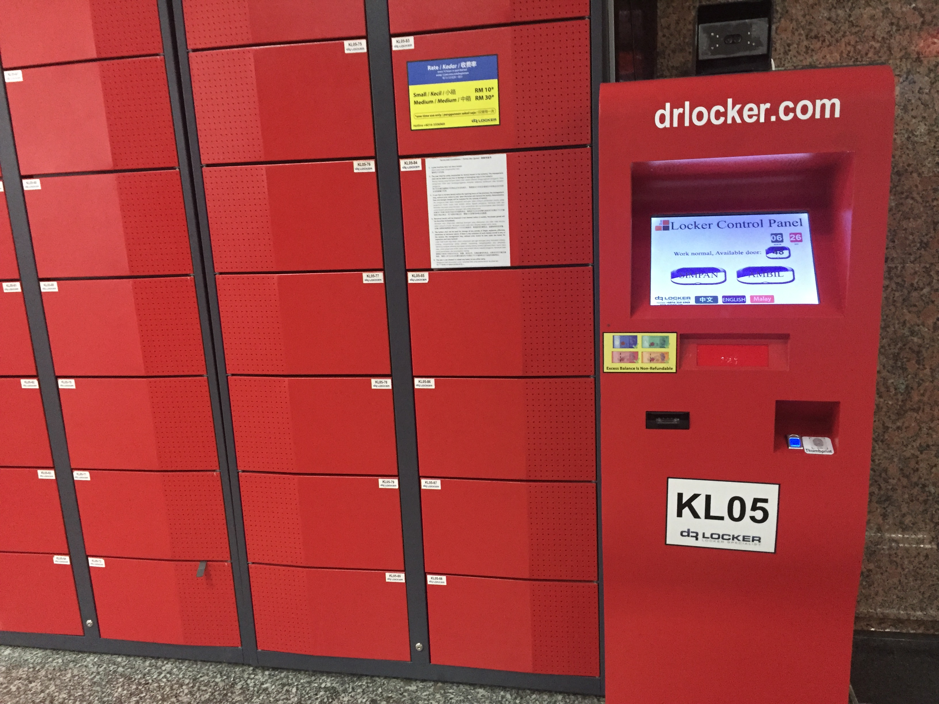 KL Sentral Luggage Storage Locker