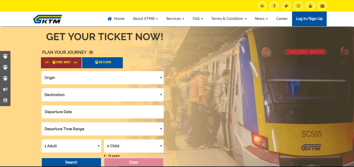 How to buy ETS ticket online via KTMB Official Website?