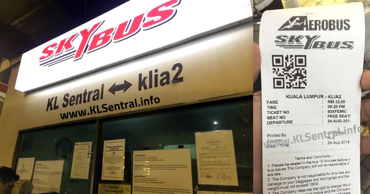 KL Sentral to KLIA2 Bus