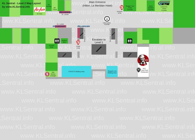 KL Sentral Station Directory Level 2 Map