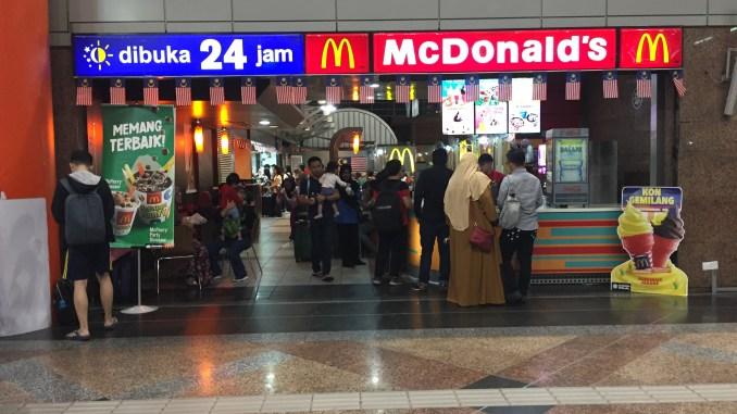 McDonald's fast food restaurant in KL Sentral