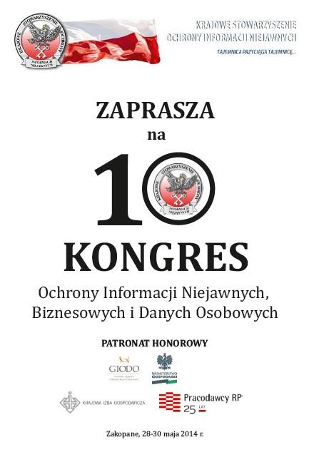 Zaproszenie na 10 Kongres