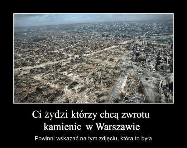 Reprywatyzacja a zburzona Warszawa
