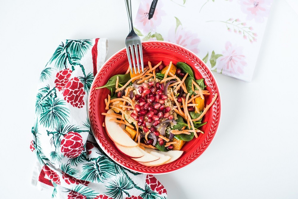 Pumpkin and pomegranate salad