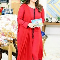 Sanam Jung in red dress