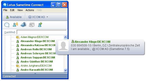 Sametime 7.5 @ XCOM