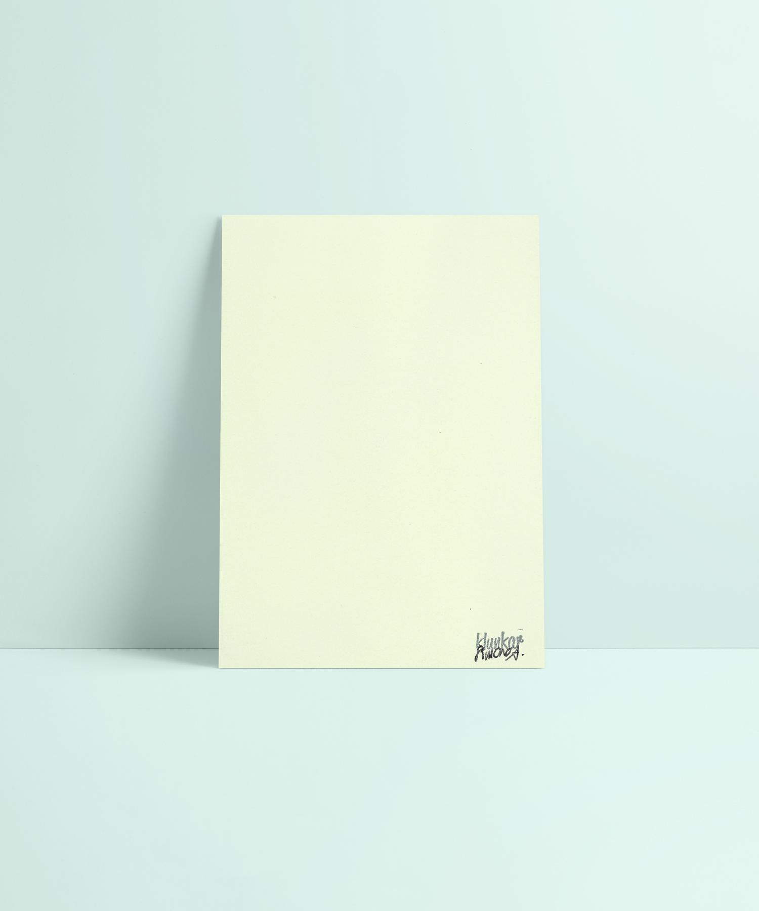 Sleep is Gold Karte Rückseite. Schimmerndes Metallic Papier in Mint.