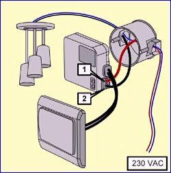 AWMR210 aansluiten op een stopcontactschakelaar combinatie