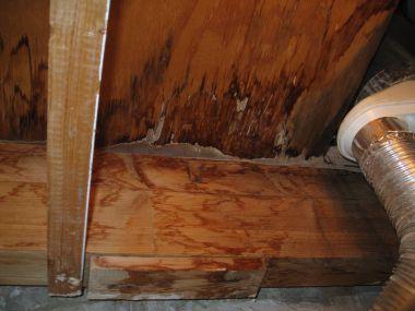 Hoe lang nat geworden houten delen door lekkage behandelen