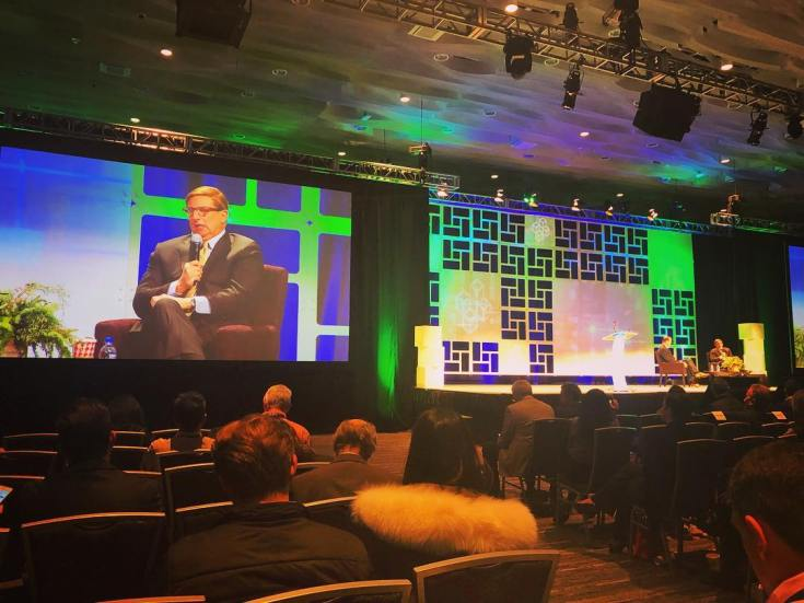 Oracle CEO Mark Hurd speaking at