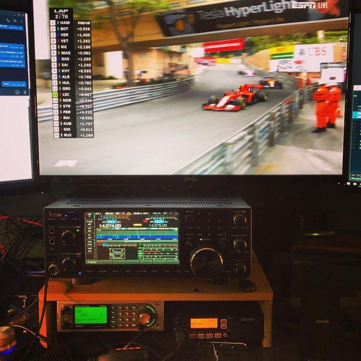 Ham Radio and F1 Sunday