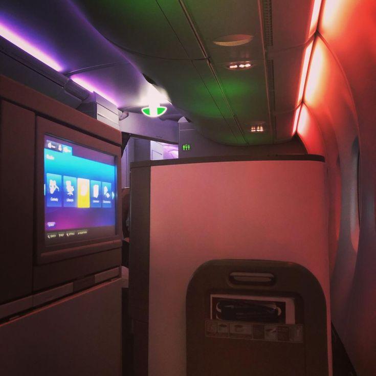 BA A380 Club World - flew the whole way to India facing backwards