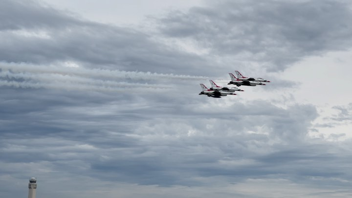 The @afthunderbirds at KCLE - swipe right for another one.