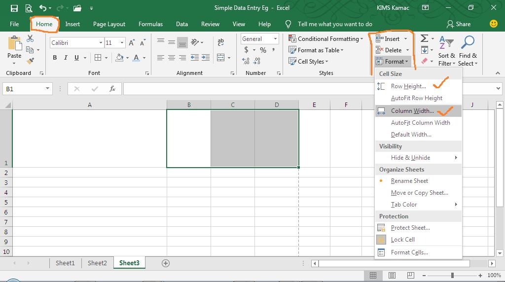 Invoice template - adjust column width