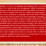 Hidden pilcrow in word document