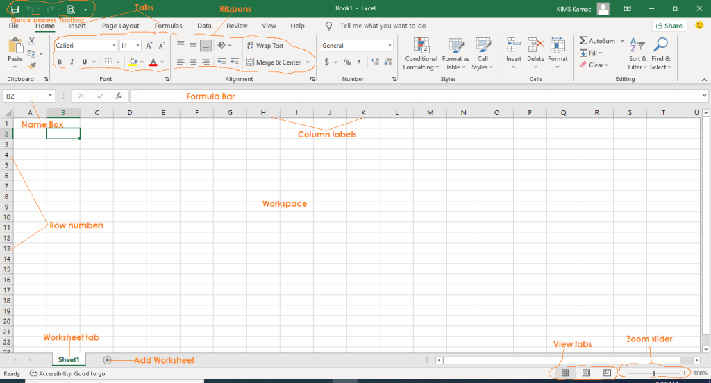 What is Microsoft Excel - the window features