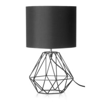 Black Geometric Table Lamp