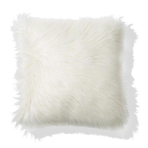Zsa Zsa Faux Fur Cushion  White  Kmart