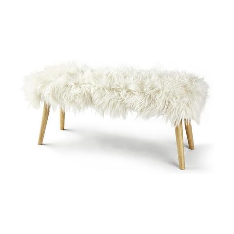 Mongolian Faux Fur Bench  Kmart