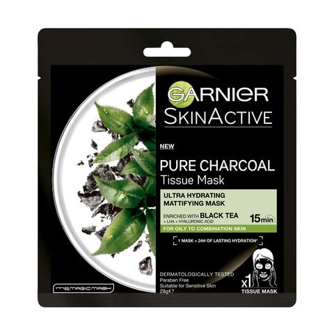 Garnier SkinActive Pure Charcoal Tissue Mask  Black Tea  Kmart