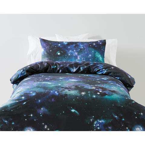 Galaxy Quilt Cover Set Single Bed Kmart