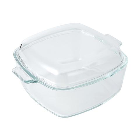 square glass casserole dish