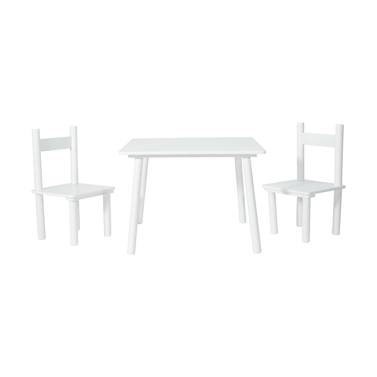 kids table and chair set kmart resin wicker lounge chairs white