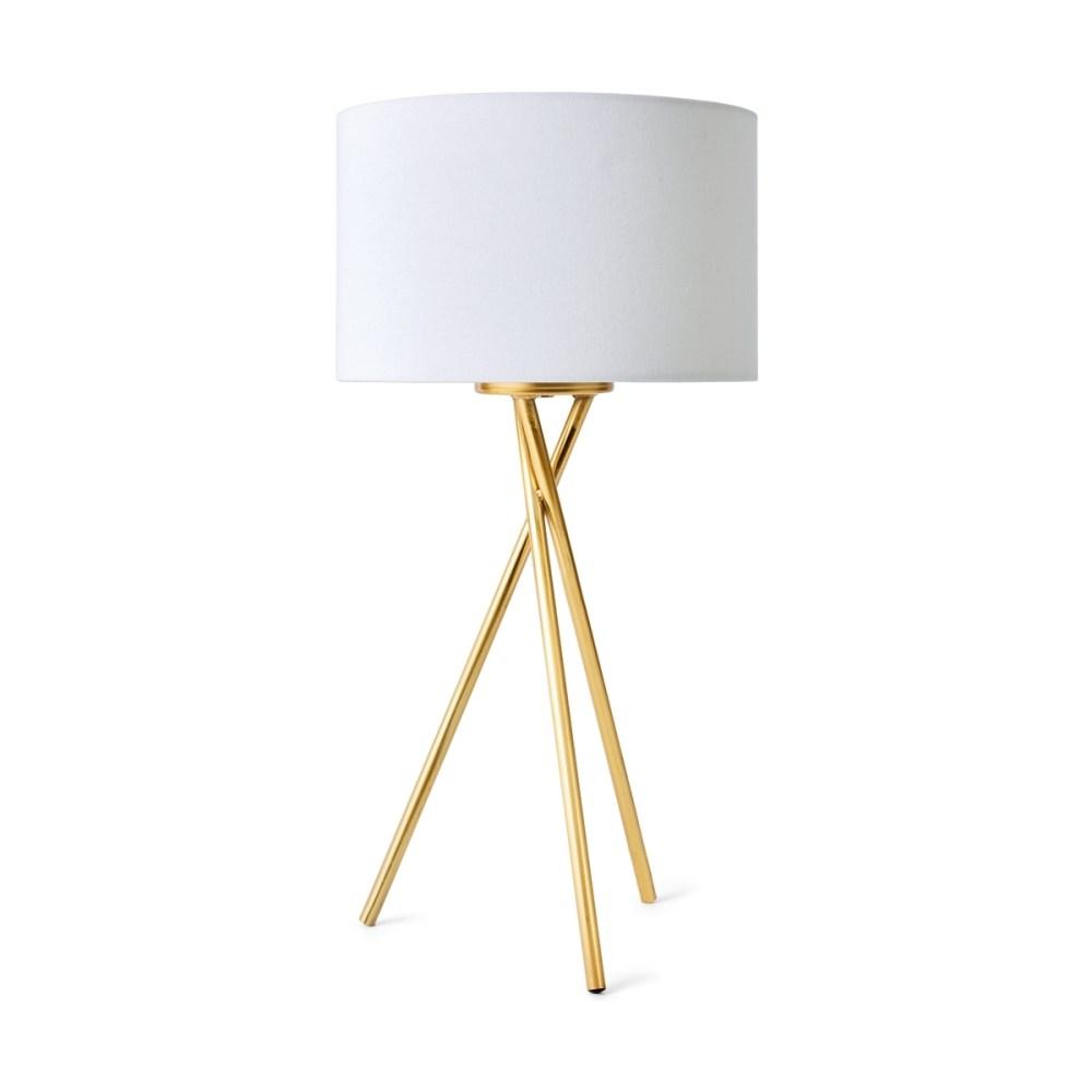 medium resolution of tripod table lamp brass look