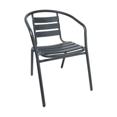 Cafe Chairs Metal Rocking Desk Chair Charcoal Kmart