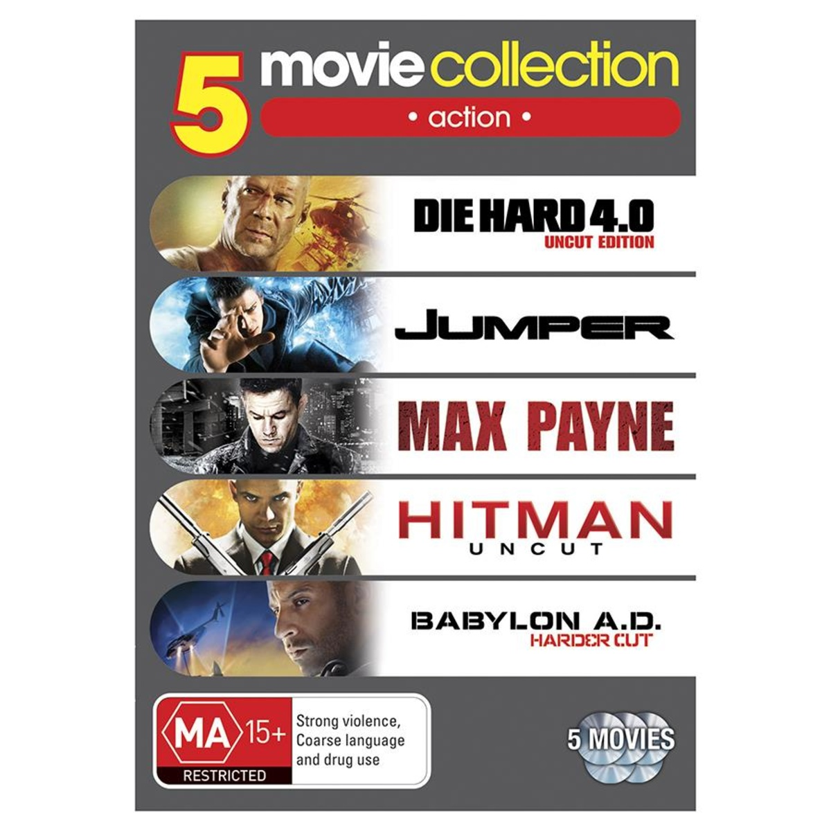 Action Movie Collection  5 DVD Set  Kmart