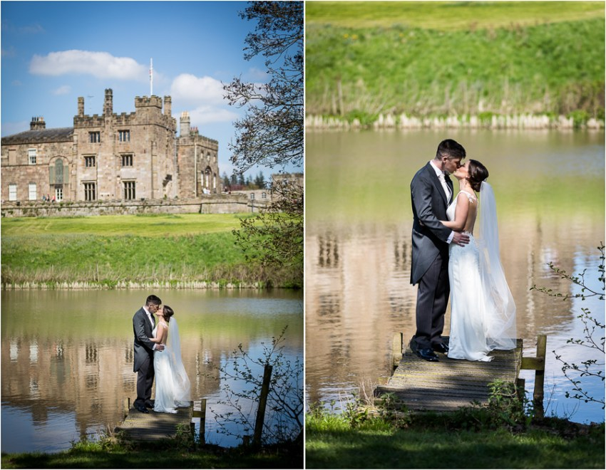 couple by the lake at ripley castle