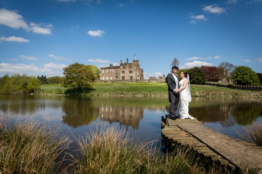 wedding couple photograph at ripley castle