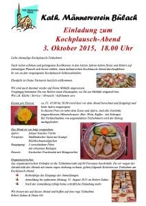 Kochplausch Abend 2015 PDF
